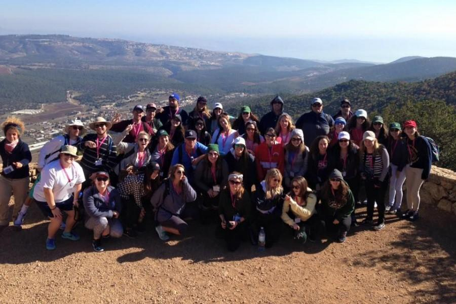 The Hillel of Broward and Palm Beach on their trip to Israel, accompanied by a number of FAU students. Photo courtesy of Birthright Israel.