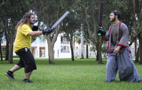 Legal combat on campus with daggers and swords