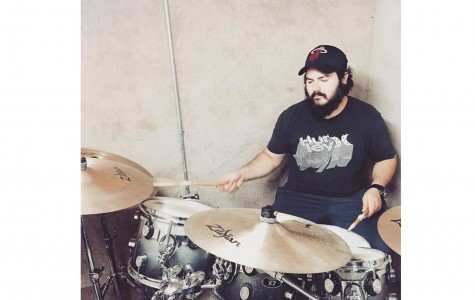 Stoic City drummer Miguel Cruz practicing for Hootstock 2016. Photo courtesy of Stoic City's Facebook page.
