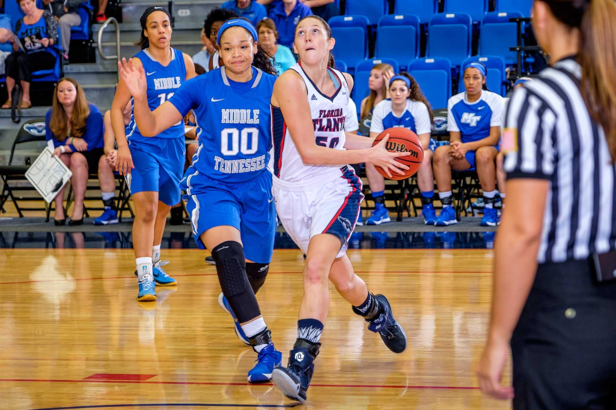 Junior Melinda Myers has helped the Owls become one of the top five rebounding teams in Conference USA. Photo by Mohammed F. Emran