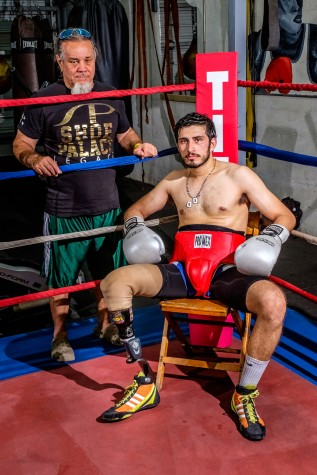 Andres Felipe Diaz Mateus with his coach Carlos Albuerne. They train every Monday through Friday for about two hours. Mohammed F. Emran   Staff Photographer