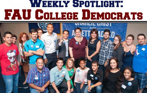 FAU College Democrats have 32 due-paying members and a larger network of students involved in politics both in and out of campus life. Photo courtesy of FAU College Democrats' Owl Central page.