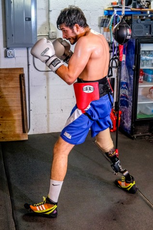 Diaz Mateus poses in his boxing stance. Mohammed F. Emran   Staff Photographer