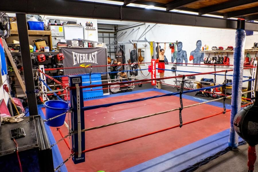 """Many boxers, including Diaz Mateus train at """"The Ranch,"""", which is located in a warehouse in Miami. Mohammed F Emran 