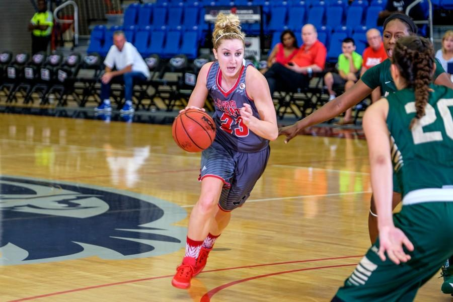 Redshirt+senior+guard+Ali+Gorrell+dribbles+into+the+paint+during+her+team%27s+67-62+loss+on+Feb.+6+to+the+University+of+Alabama+at+Birmingham.+Mohammed+F+Emran+%7C+Contributing+Photographer