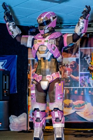 Purple female halo spartan won 1st place in the Geek Fest costume contest. Mohammed F. Emran | Staff Photographer