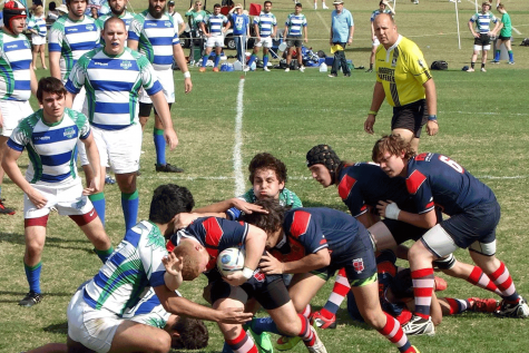 FAU Men's Rugby Club faces off with Florida Gulf Coast University. Photo courtesy of FAU Men's Rugby Club.