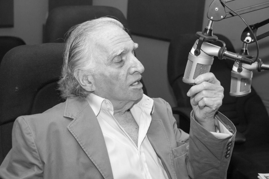Getting acquainted with a new setup, Kalman Fagan sits in Owl Radio's studio. Patrick Martin | News Editor