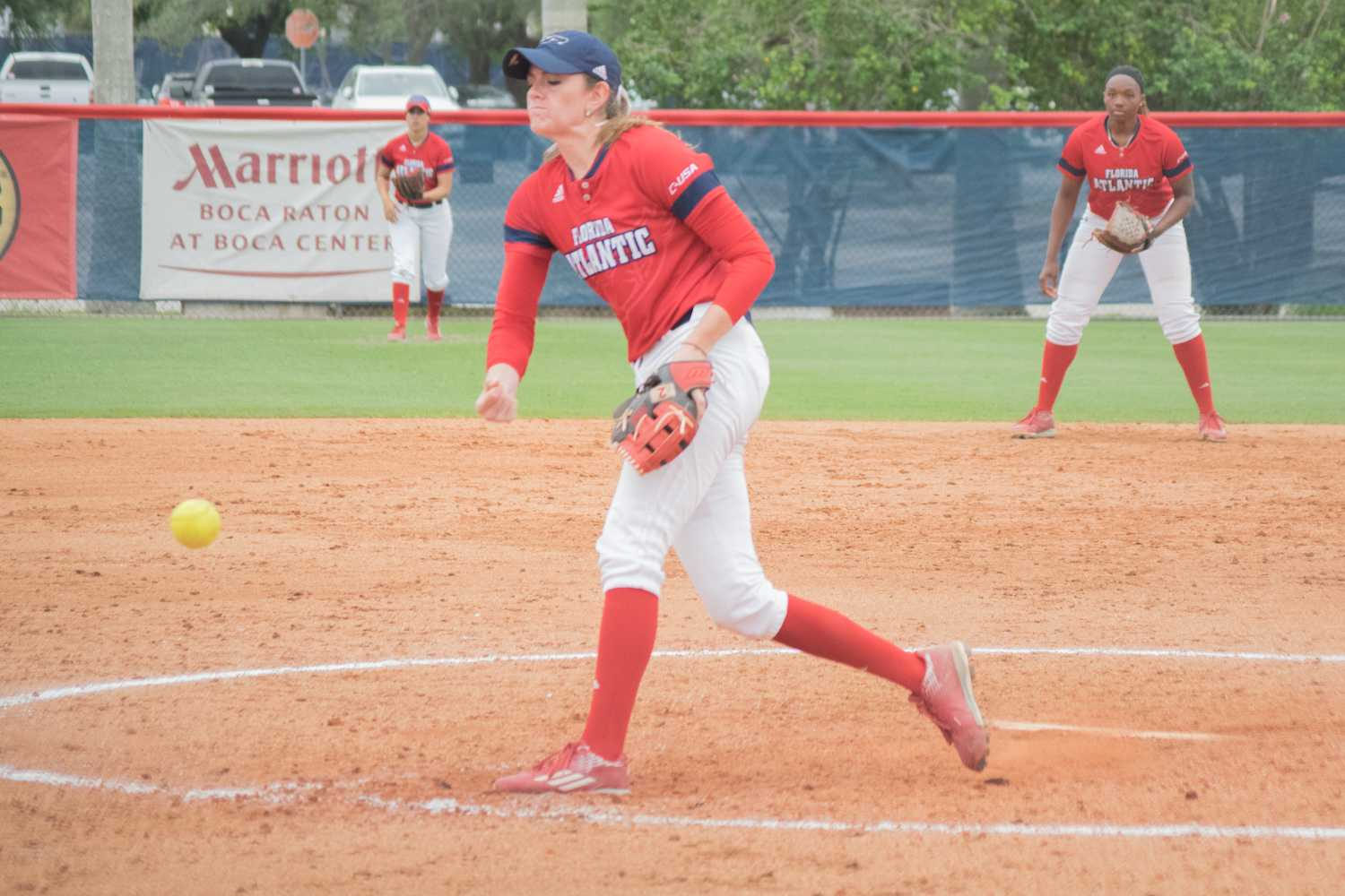 Kylee Hanson picked up her 18th and 19th wins of the season during the Owls' series versus Marshall. Ryan Lynch | Multimedia Editor