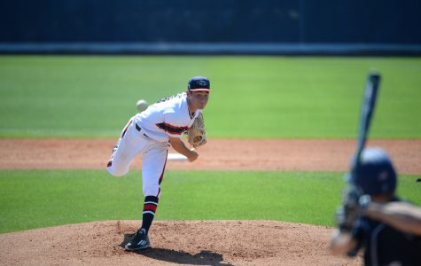 Junior Marc Stewart notched his first victory of the season after throwing 5 2/3 innings against Maine on Wednesday. Photo courtesy of FAU Athletics