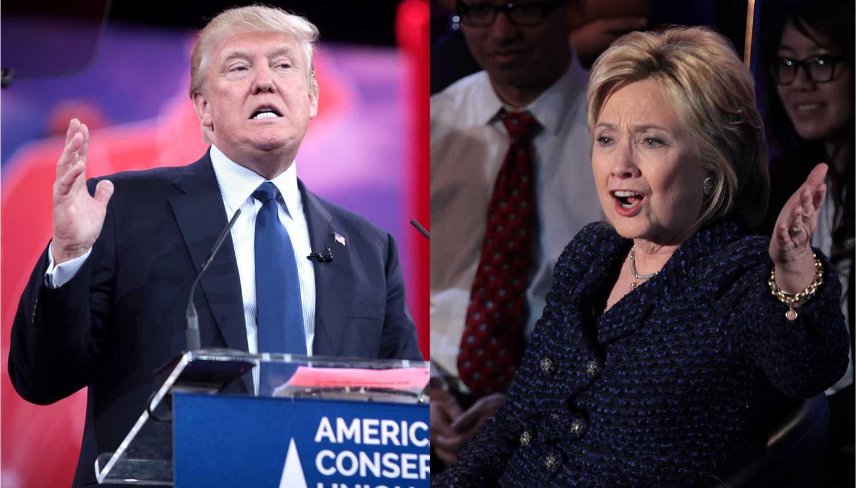 Photo of Donald Trump and Hilary Clinton courtesy of Wikimedia Commons.
