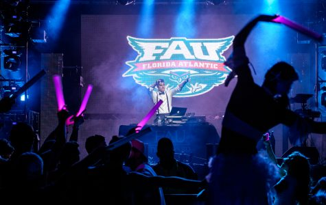 DJ Gramps is an FAU student DJ that won a chance to DJ Owl Fest.  Photo by Mohammed F Emran | Staff Photographer
