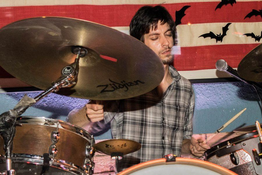 Ryan McCauly of Smith Sundy plays the drums during the final set of the night. Ryan Lynch | Multimedia Editor