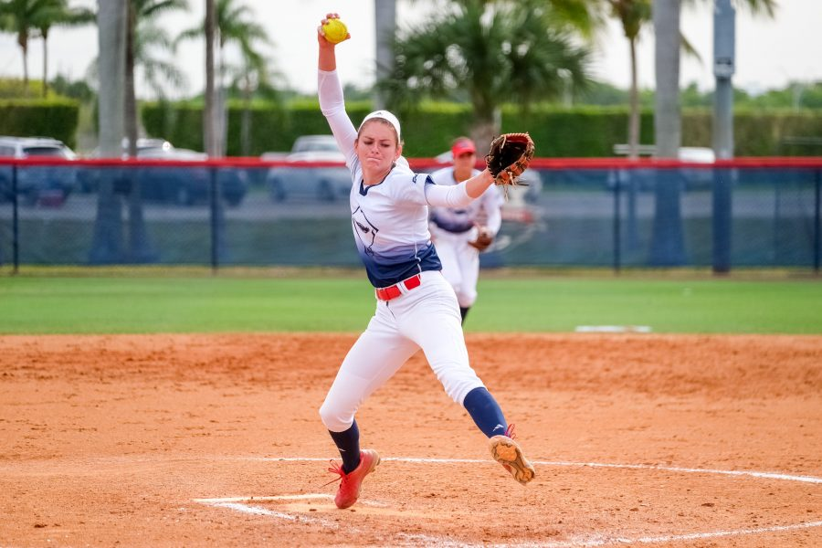 Senior pitcher Kylee Hanson picked up her first loss of the season against Kentucky, but still stands at 5-1 with a 0.91 ERA. Photo by Mohammed F. Emran