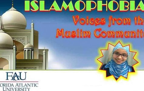 Flyer for Monday's Islamophobia panel event courtesy of Muslim Student Association at FAU.
