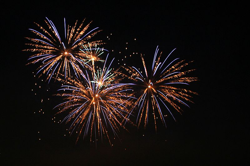 Photo of fireworks courtesy of Wikimedia Commons.