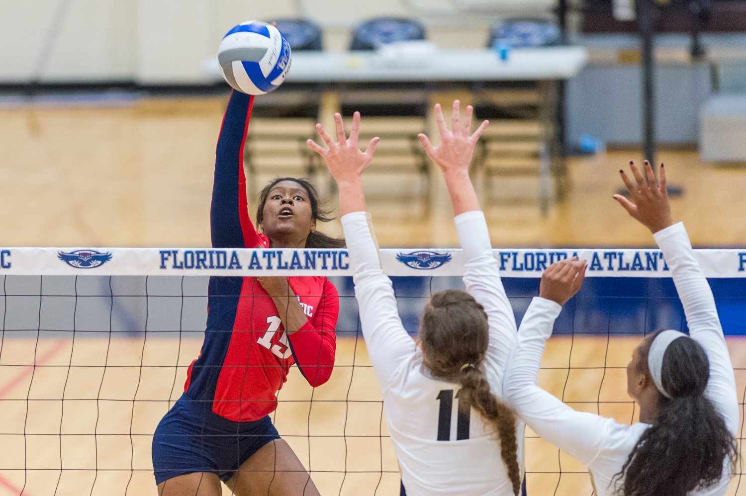 Redshirt sophomore Gabrielle Dixon will step into a bigger role near the net for her team this upcoming season with the graduation of Brittney Brown. Max Jackson | Staff Photographer