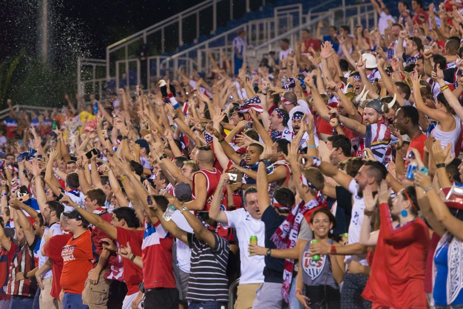 Fans+of+the+United+States+Men%E2%80%99s+National+Team+cheer+on+the+team+versus+Honduras+at+FAU+Stadium+on+Oct.+15%2C+2015.+Argentina%E2%80%99s+pair+of+Olympic+warm%C2%ADup+matches+will+be+the+first+time%0Asince+that+game+a+men%E2%80%99s+national+team+has+played+in+Boca+Raton.+Max+Jackson+%7C+staff%0Aphotographer.