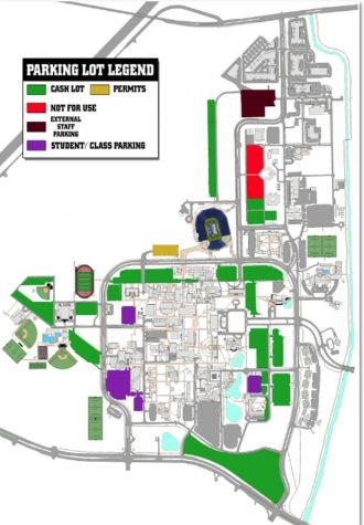 Photo of parking lot layout for games courtesy of FAU Parking.