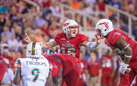 Redshirt sophomore Jason Driskel was named the starting quarterback for Florida Atlantic's season opener on Sept. 3. Max Jackson | Staff Photographer