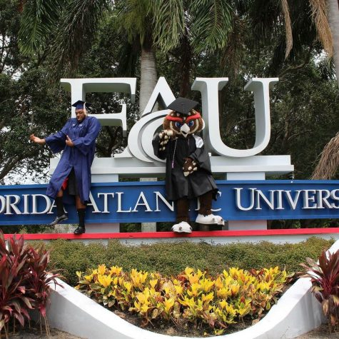 Eric Dunn graduated last Tuesday, during FAU's summer graduation ceremony with a degree in economics. Photo via Dunn's Facebook.