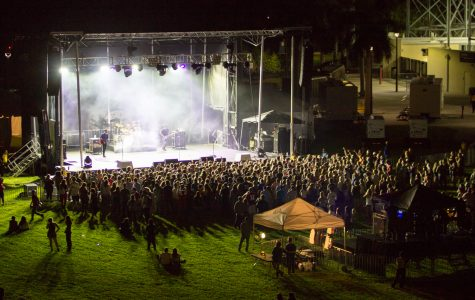 The stage lights reveal the crowd during the finale of Chase Bryant's show. Andrew Fraieli | Managing Editor