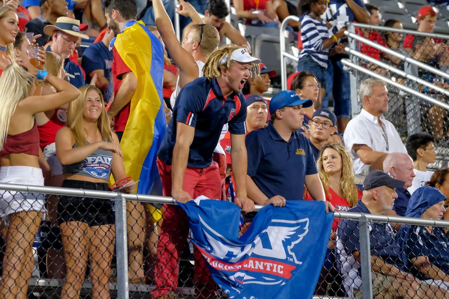 FAU fans react to the game during the 15th annual Shula Bowl. Mohammed F Emran | Staff Photographer