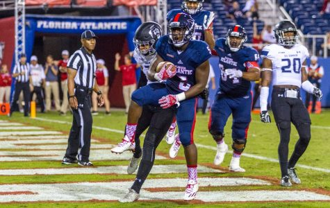 Freshman running back Devin Singletary scored two touchdowns in the Owls 42-24 loss to Old Dominion on Saturday night. Alexis Hayward | Staff Photographer