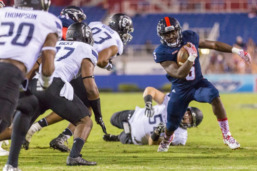 Running back Devin Singletary earned a spot on Conference USA's All-Freshman Team after averaging 85.1 rushing yards per game. Brandon Harrington | Staff Photographer