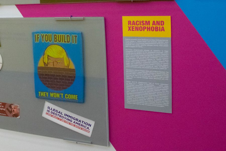 A section of the exhibit is devoted to campaign issue related memorabilia. Craig Ries | Contributing Photographer
