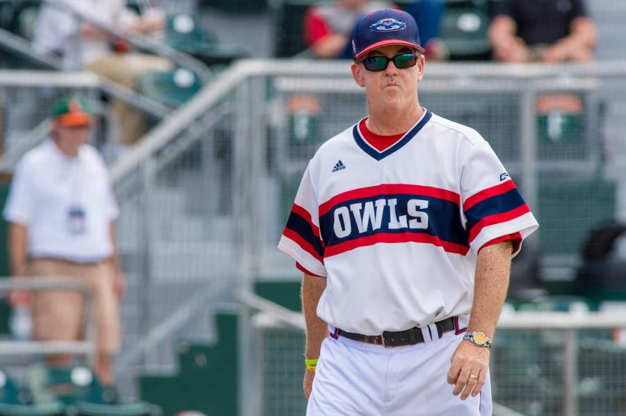 FAU Head Baseball Coach John McCormack | Photo by Max Jackson