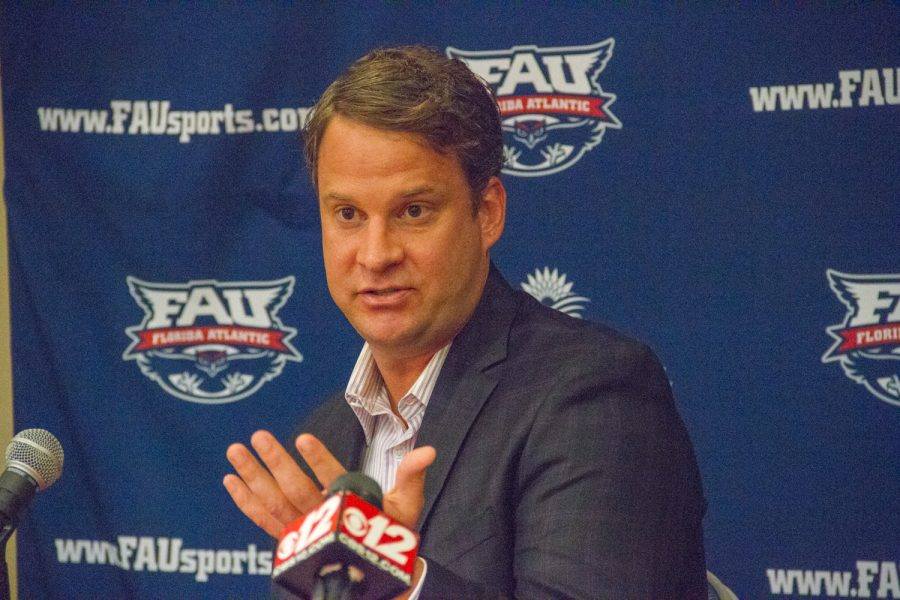 FAU hired Lane Kiffin as its new head coach on Dec. 13, 2016. Brendan Feeney | Managing Editor