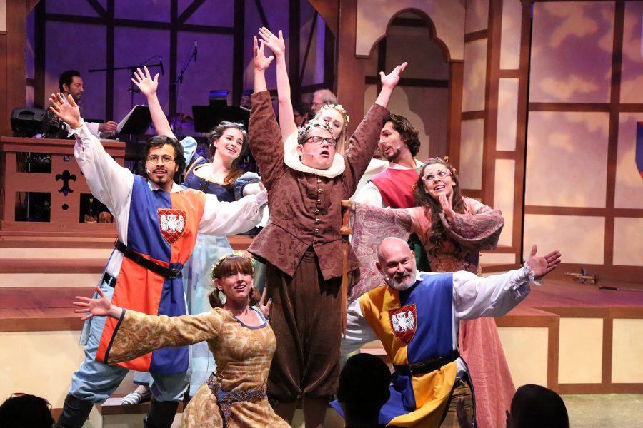 Actors perform in the University Theatre. Photo courtesy of the University Theatre