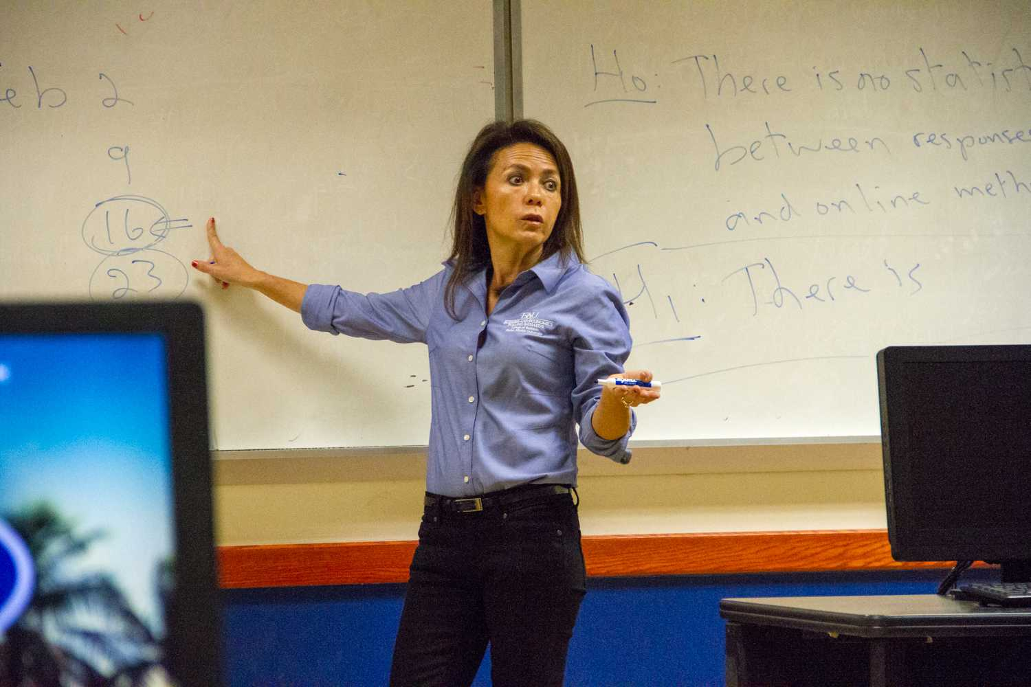 BEPI Director Monica Escaleras speaks to the students that participate in her BEPI class. Joe Pye | News Editor