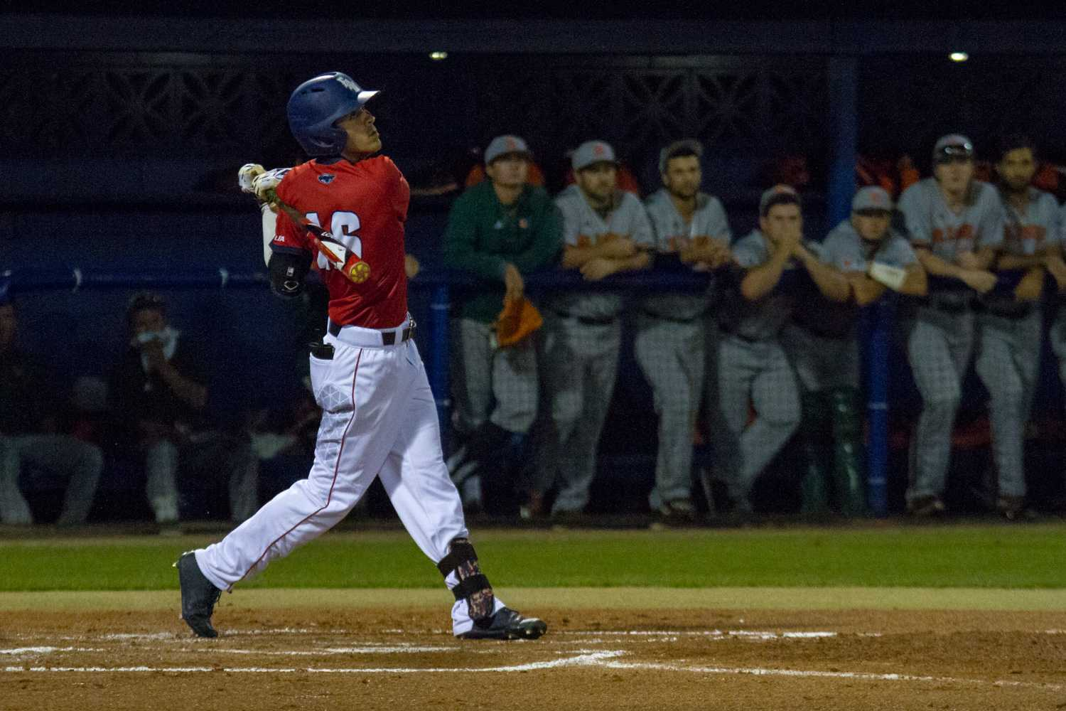 Freshman center fielder Eric Rivera went 3-for-5 with a home run, three RBIs and two runs scored in Sunday's win over Illinois. Ryan Lynch | Editor in Chief