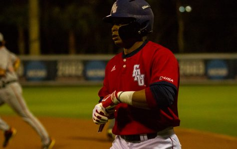 Freshman Gary Mattis picked up eight RBIs in the Owls victory over Bethune-Cookman, one short of the program record. Ryan Lynch | Editor in Chief