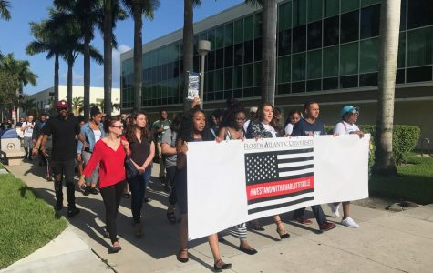 Gallery: FAU NAACP chapter holds Charlottesville solidarity march