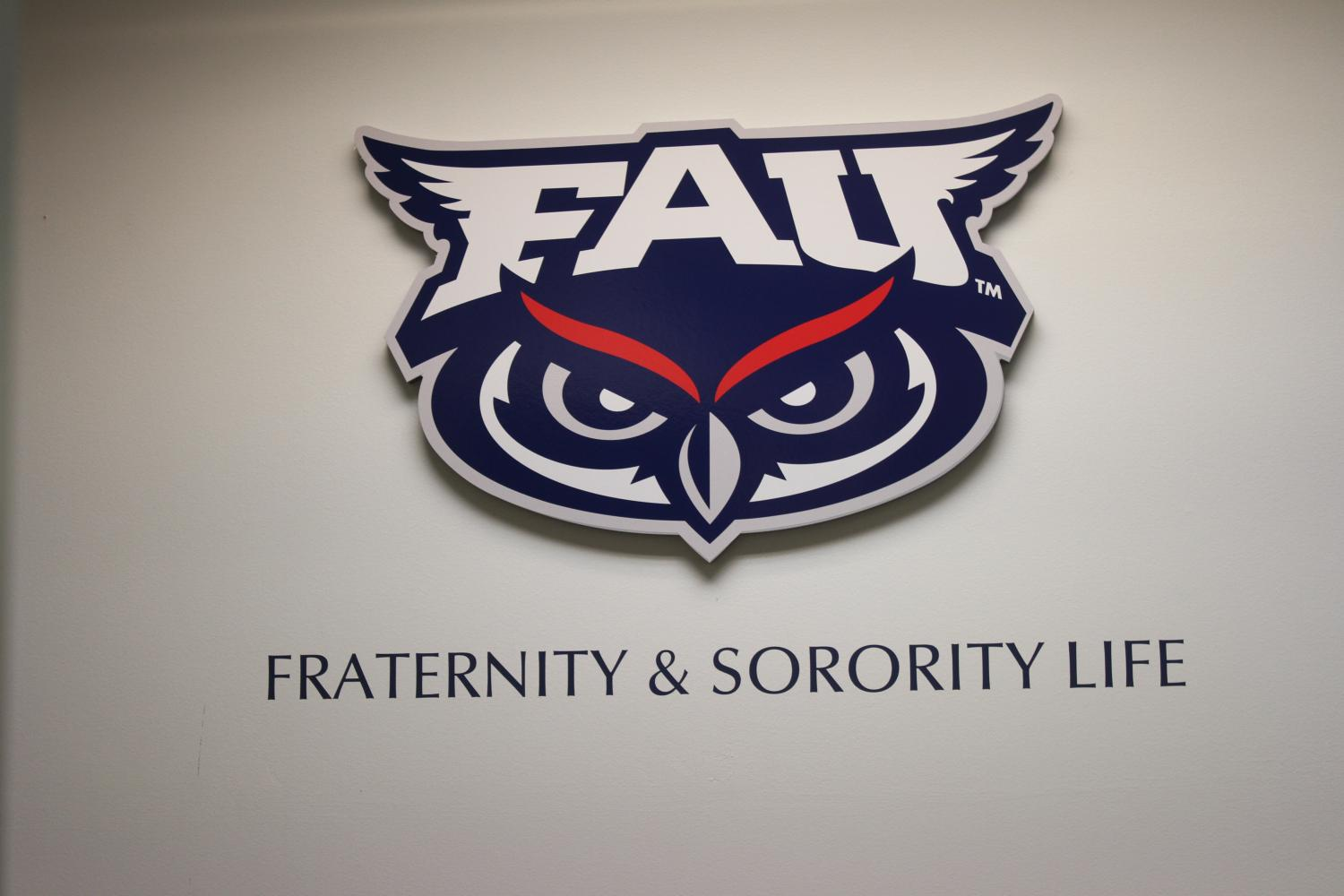 The+Office+of+Fraternity+and+Sorority+Life+logo+on+the+second+floor+of+the+Student+Union.+Photo+by+Joe+Pye+%7C+Editor+in+Chief