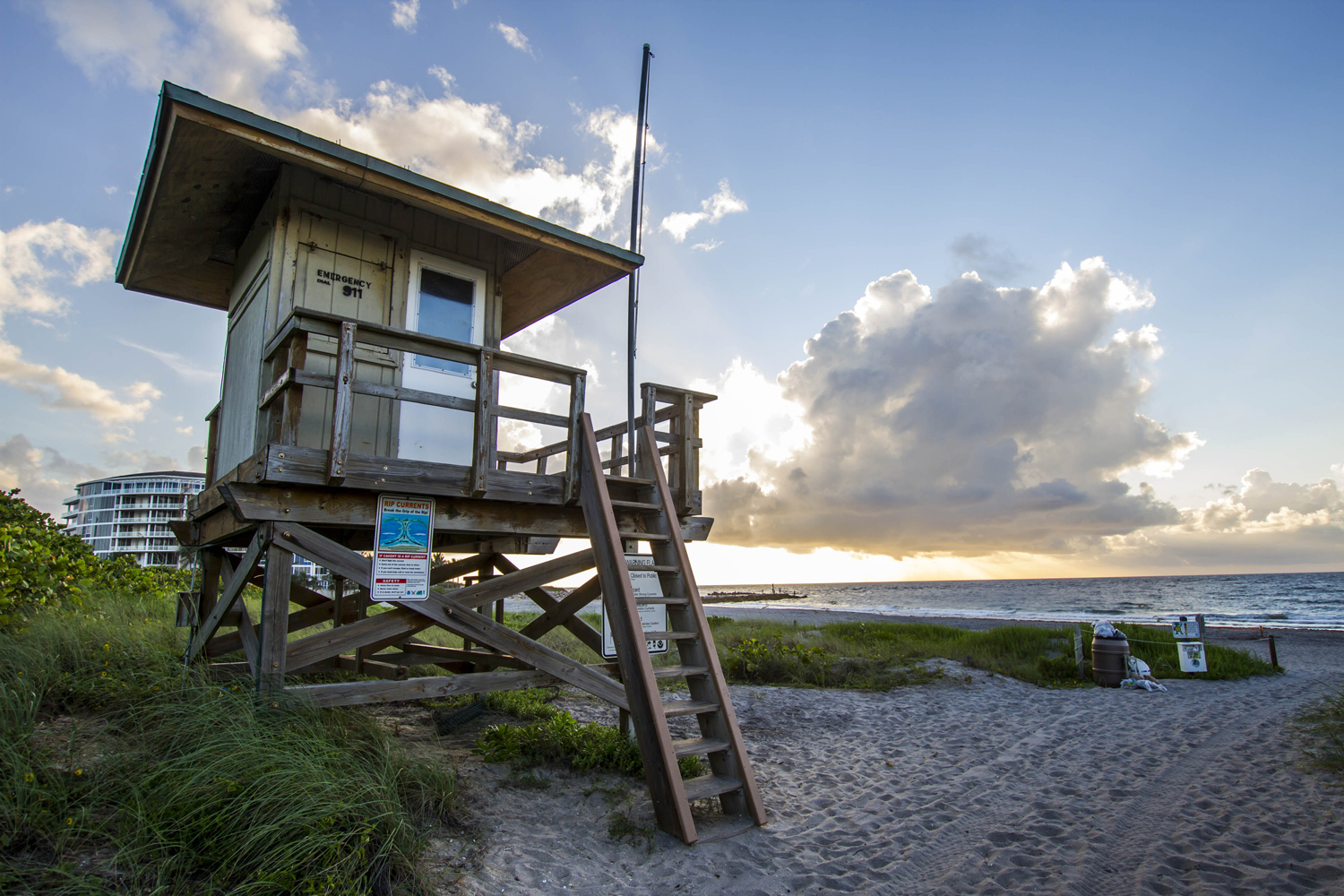 A lifeguard station at the north end of Spanish River Beach. Alexander Rodriguez | Photo Editor