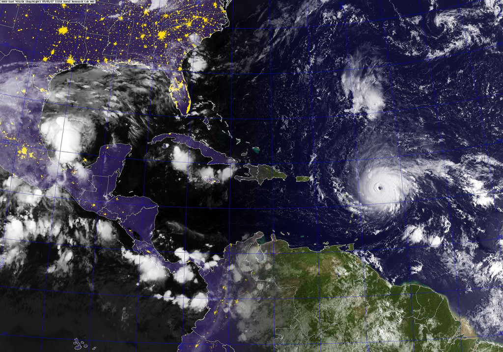 A+satellite+image+of+Hurricane+Irma+on+Wednesday%2C+Sept.+6+in+the+Atlantic+Ocean.+Photo+courtesy+of+Flickr+
