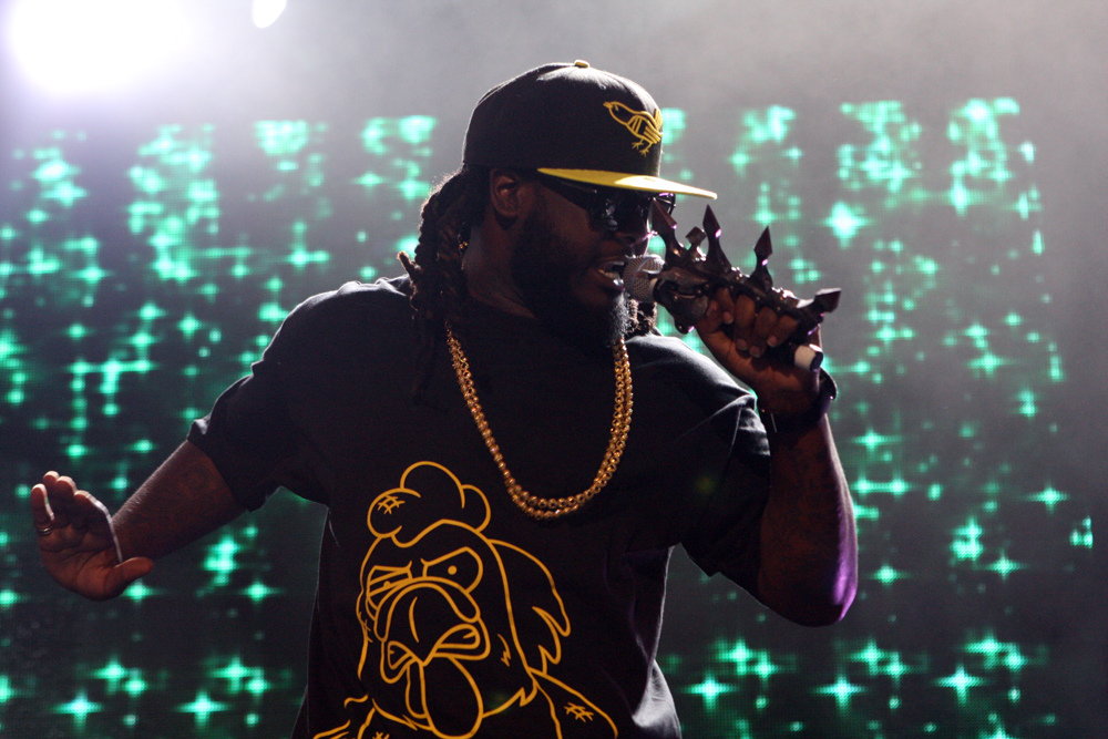 T-Pain performing in concert. Photo courtesy of Flickr
