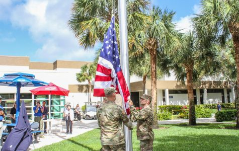 Veterans flagpole raised on Boca campus