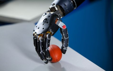 A robotic hand. Photo courtesy of Wikimedia Commons