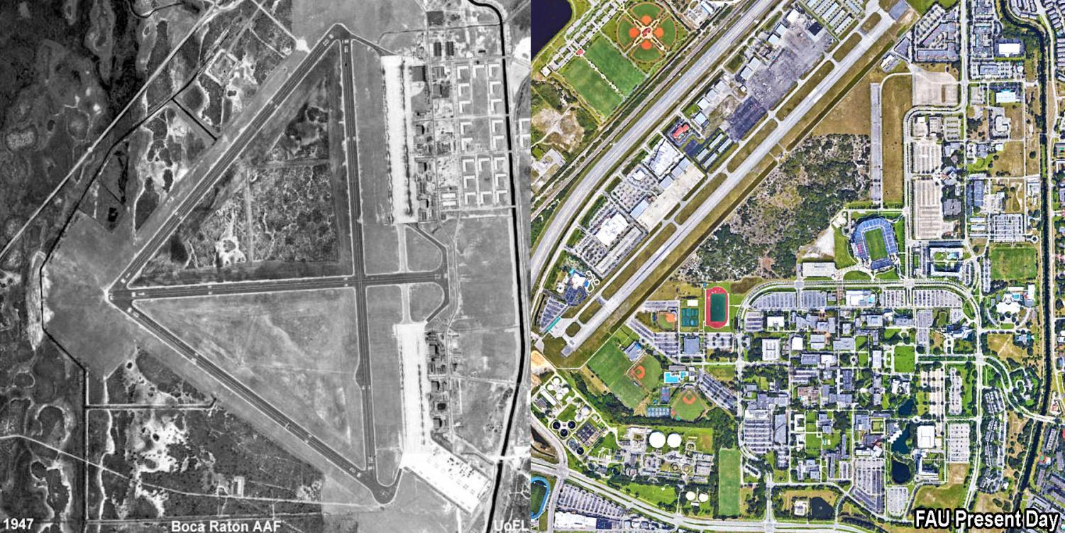 A look at the Boca campus' history as a former U S  air base
