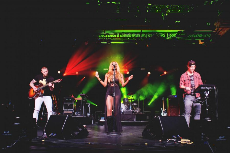 Country music artist Haeley Vaughn took the stage at the Fly On Music Festival performing a set of fan-favorite songs. Kevin Carver | Contributing Photographer