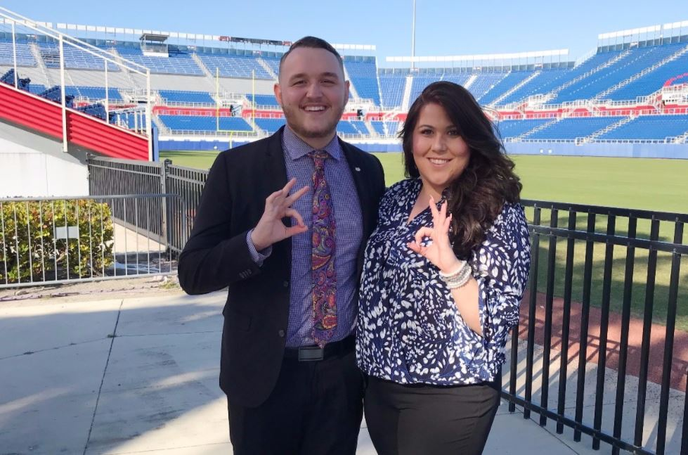 Former President-elect Jacqueline LaBayne and Vice President Kyle MacDonald. Photo courtesy of LaBayne and MacDonald's GoFundMe page