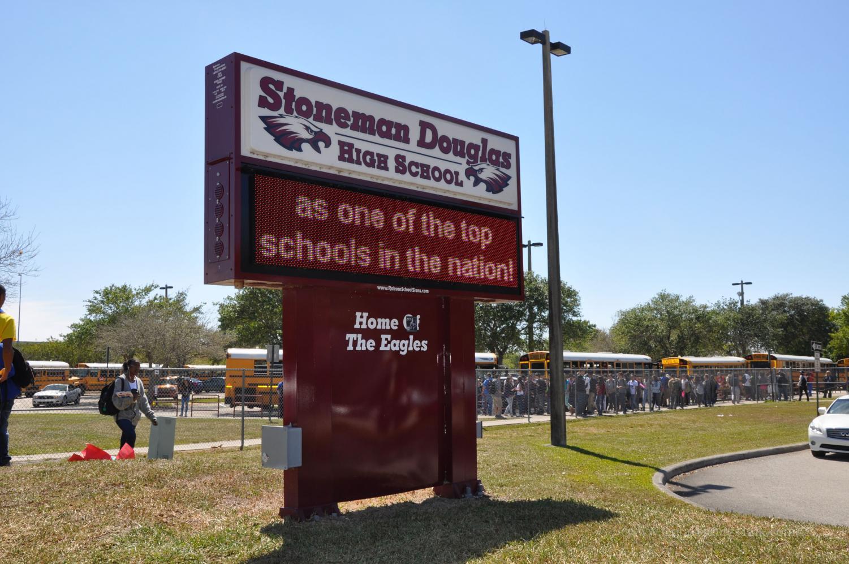 The entrance of Marjory Stoneman Douglas High School. Photo courtesy of Wikimedia Commons.