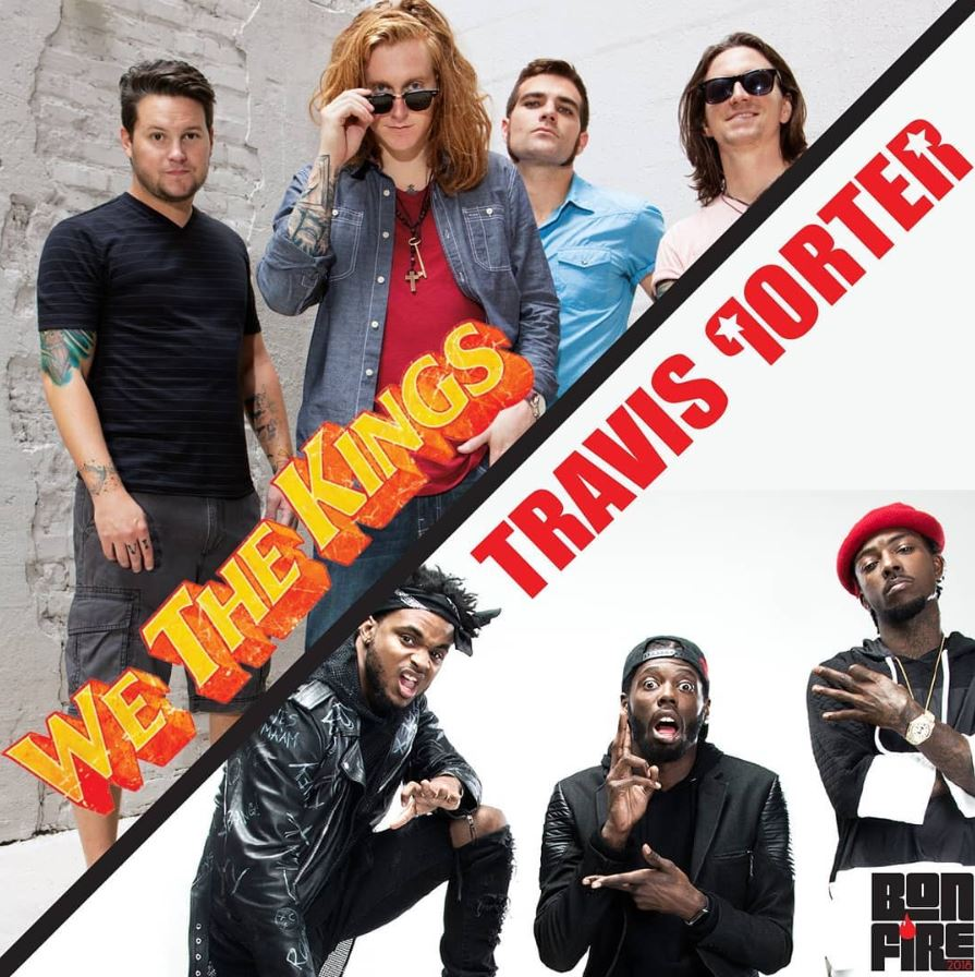 Rock group We the Kings and Travis Porter will co-headline the fall 2018 bonfire concert. Image courtesy of FAU Program Boards Instagram