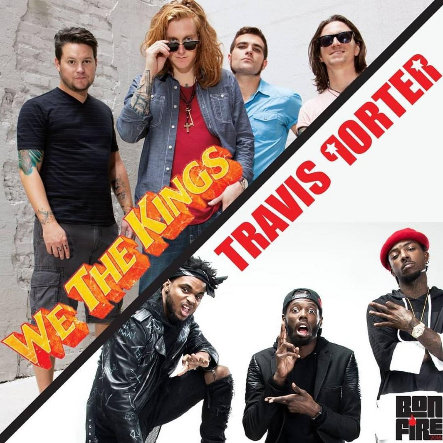 Rock group We the Kings and Travis Porter will co-headline the fall 2018 bonfire concert. Image courtesy of FAU Program Board's Instagram
