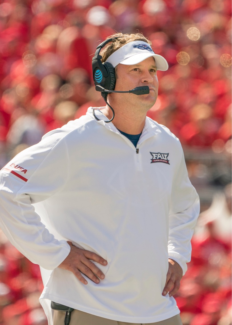 Coach Lane Kiffin's offense is primed to take another step forward with talented new additions in the fold. Photo courtesy of FAU Media Relations